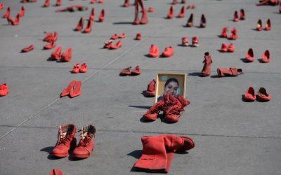 墨西哥首都「紅鞋示威」 籲大眾正視性別暴力 – 國際 – 自由時報電子報