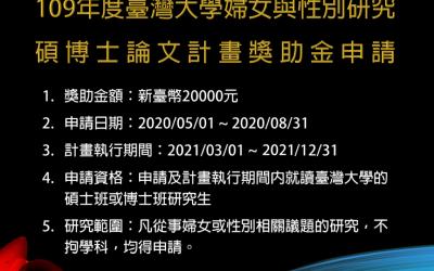 還有一個多月的徵稿時間,歡迎就讀臺灣大學的碩士班或博士班研究生,把握機會喔!